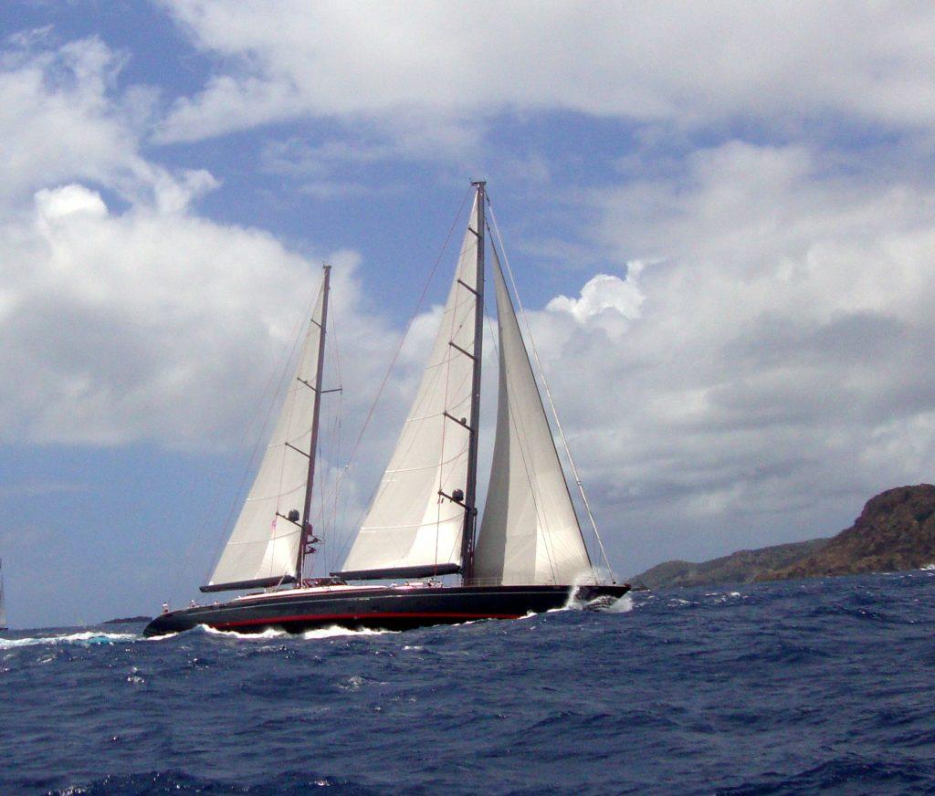 Sailing Yacht Seahawk at St Barths