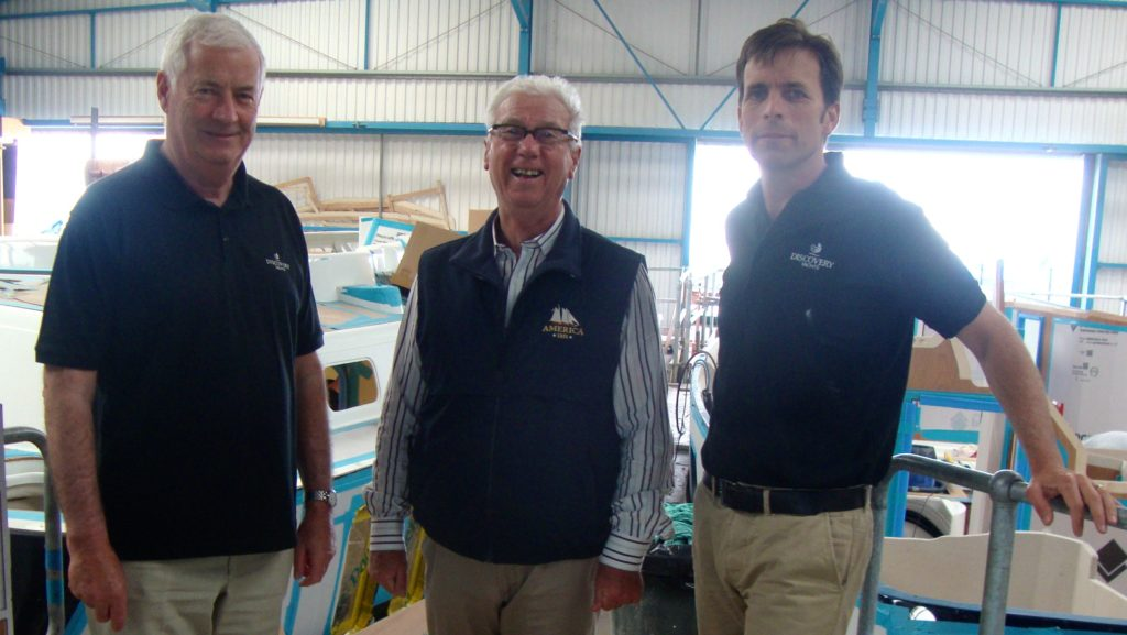 John Charnley, Ron Holland at Discovery Yachts