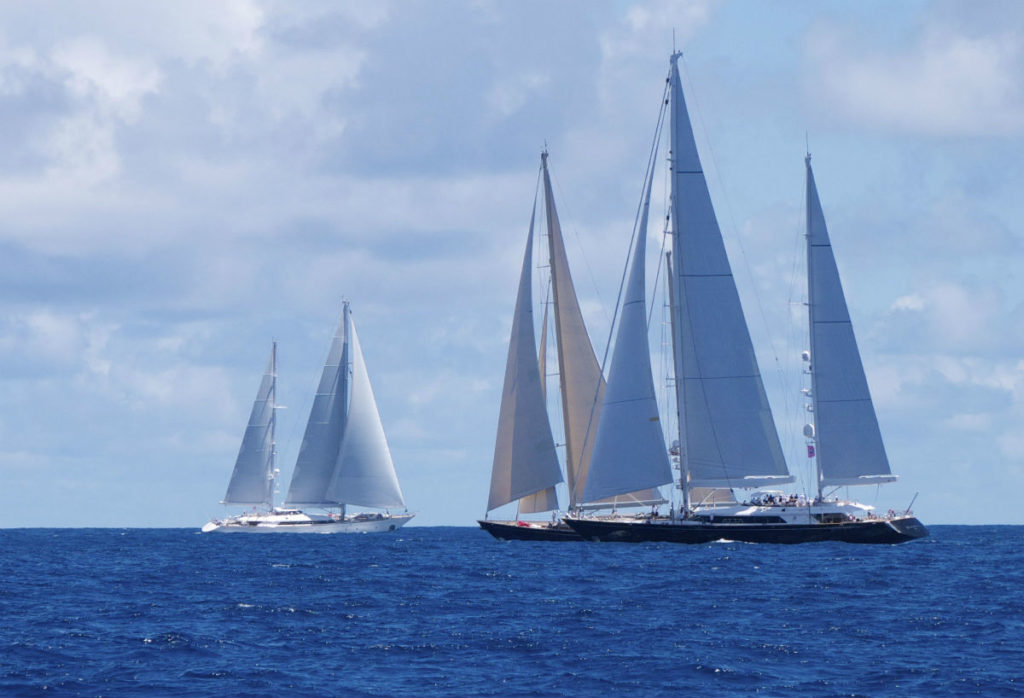 Sailing Yacht Rosehearty at st Barths
