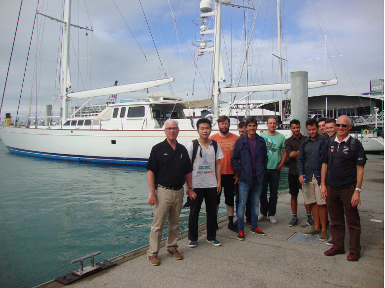 University of auckland Masters Yacht Engineering Class visits Globana in Auckland