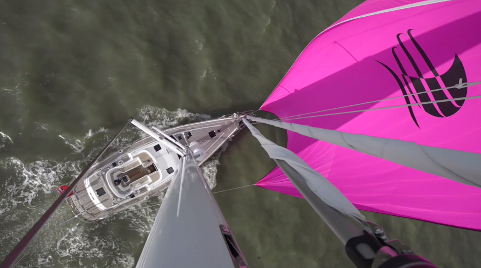 Mast View of D55 MkII Discovery Yachts Ron Holland Design