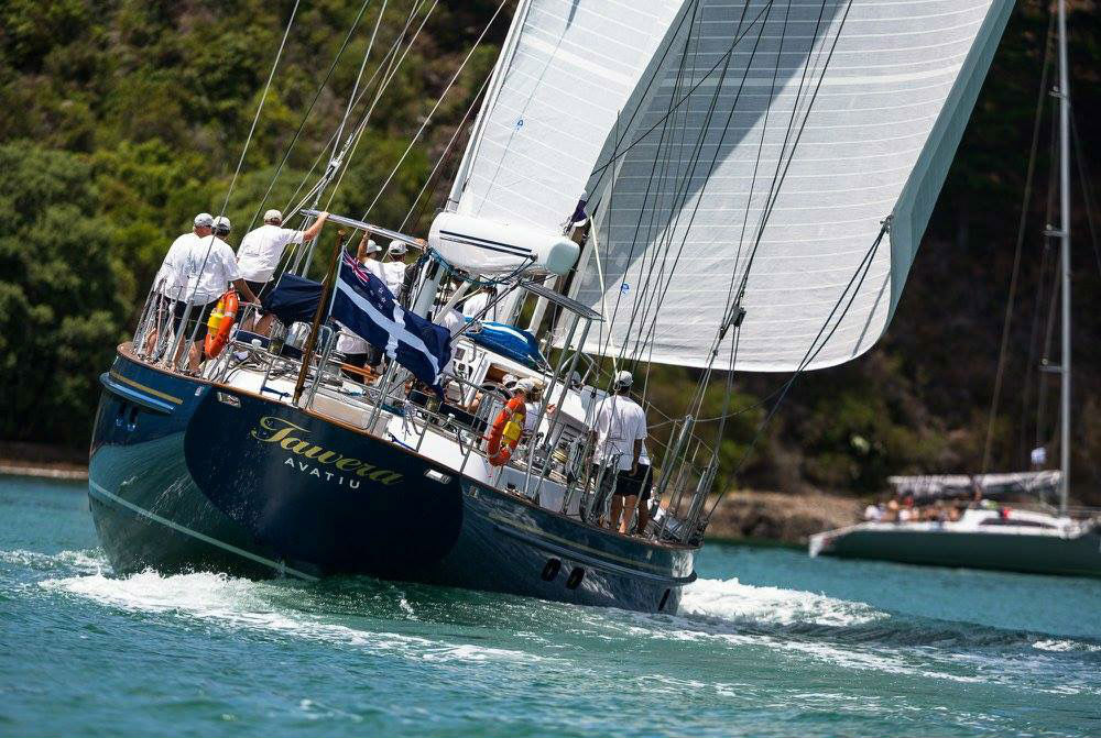Sailing Yacht Tawera races in Millenium Cup New Zealand