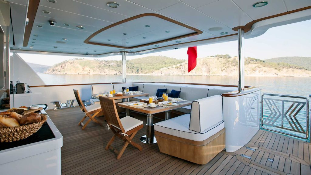 On Deck Motor Yacht Karia