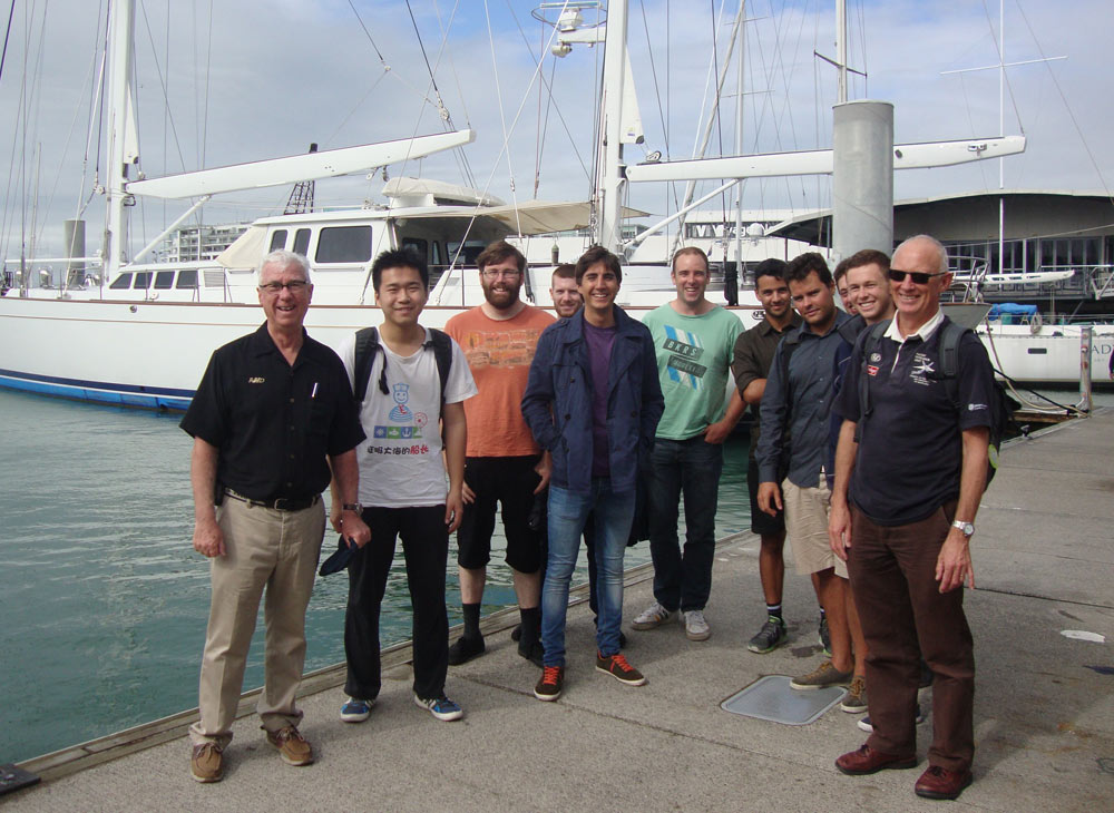 University of Auckland Masters of Yacht Engineering class 2015, Auckland Harbour