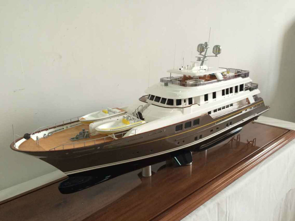 Model of 45 Metre Motor Yacht Scout, Ron Holland Design, model by Richard Outram
