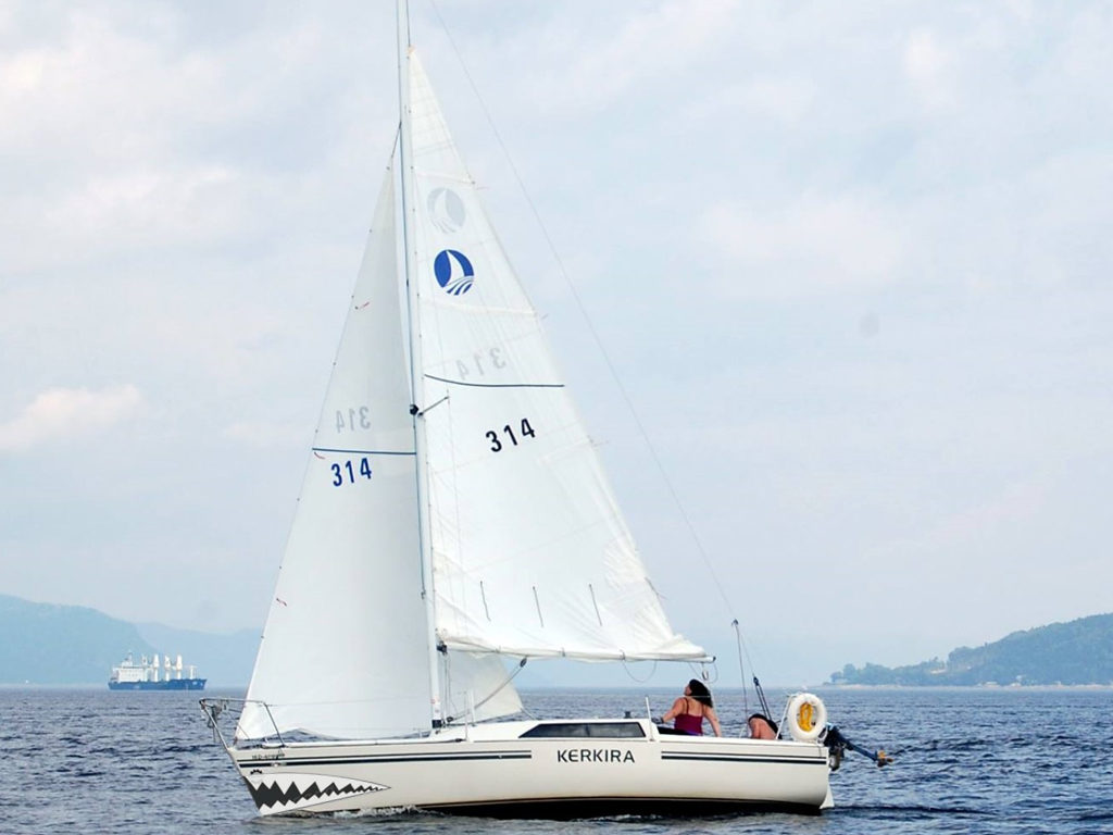 A Ron Holland Design Sailing in the Saguenay