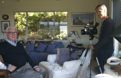 Ron Holland and Oleg Harencar shooting Ron Holland Story for Life on the Water Film Series
