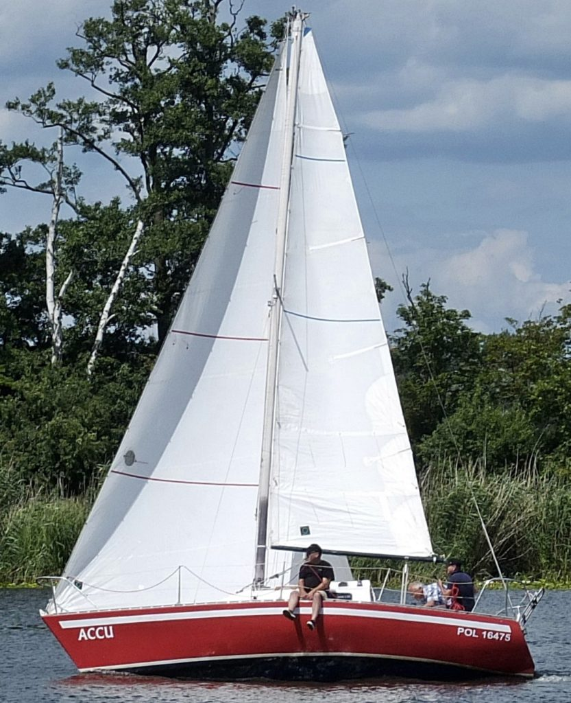 a Ron Holland design the Eygthene 24 being enjoyed out on the water