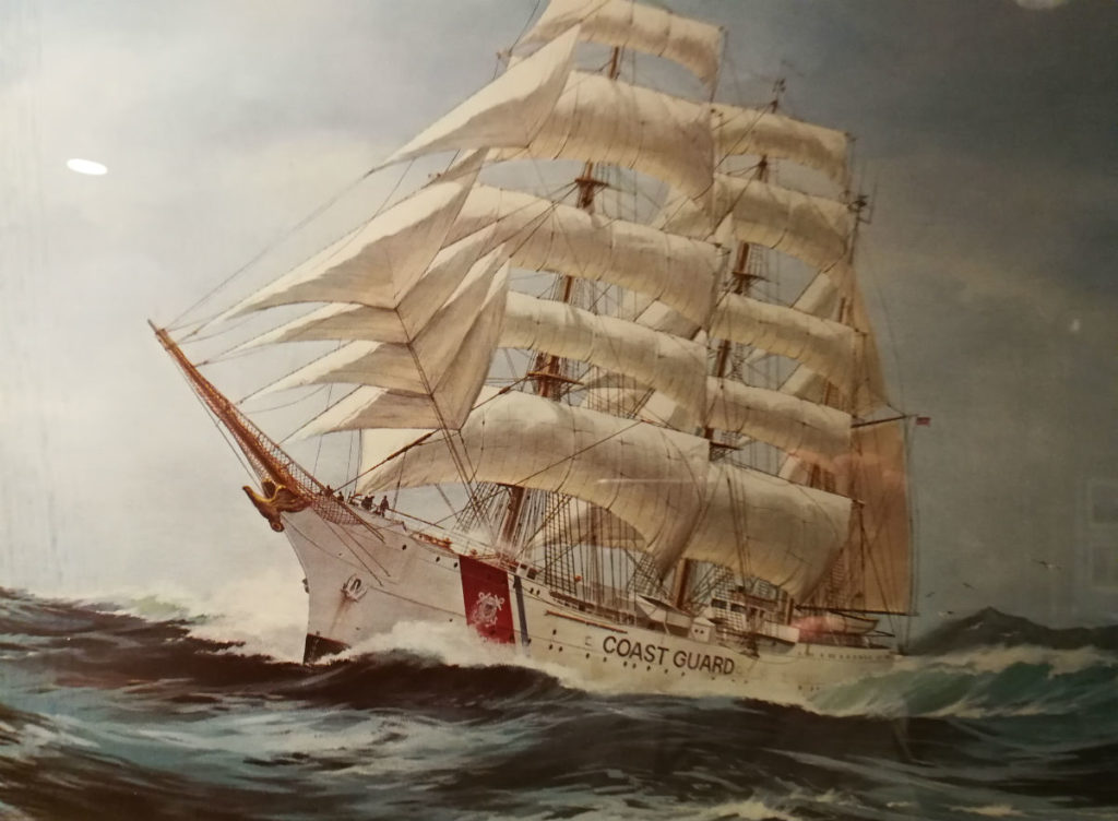 Painting of Tall Ship USCG Eagle