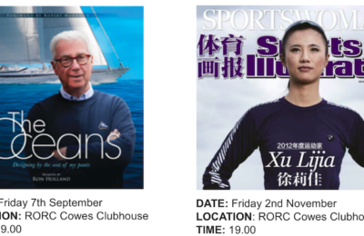 Ron Holland on the events page at Royal Ocean Racing Club, book launch event at Cowes Clubhouse