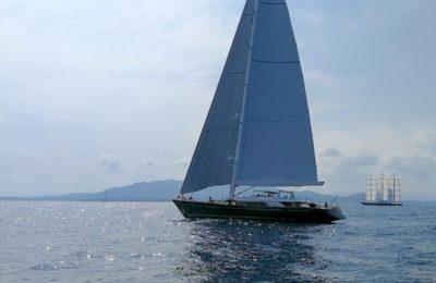 Sailing yacht Bayesian and MAltese Falcon race at Perini Navi Cup, Porto Cevo, Italy