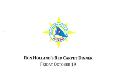 Honouring yacht designer Ron Holland, who was a speaker at Sausalito Yacht Club in October, sharing stories from his book All The Oceans
