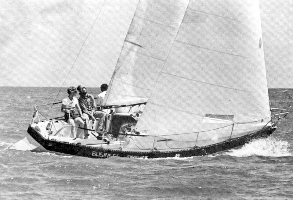"""Sailing Yacht """"Business Machine"""" in the 1976 Quarter Ton Cup"""