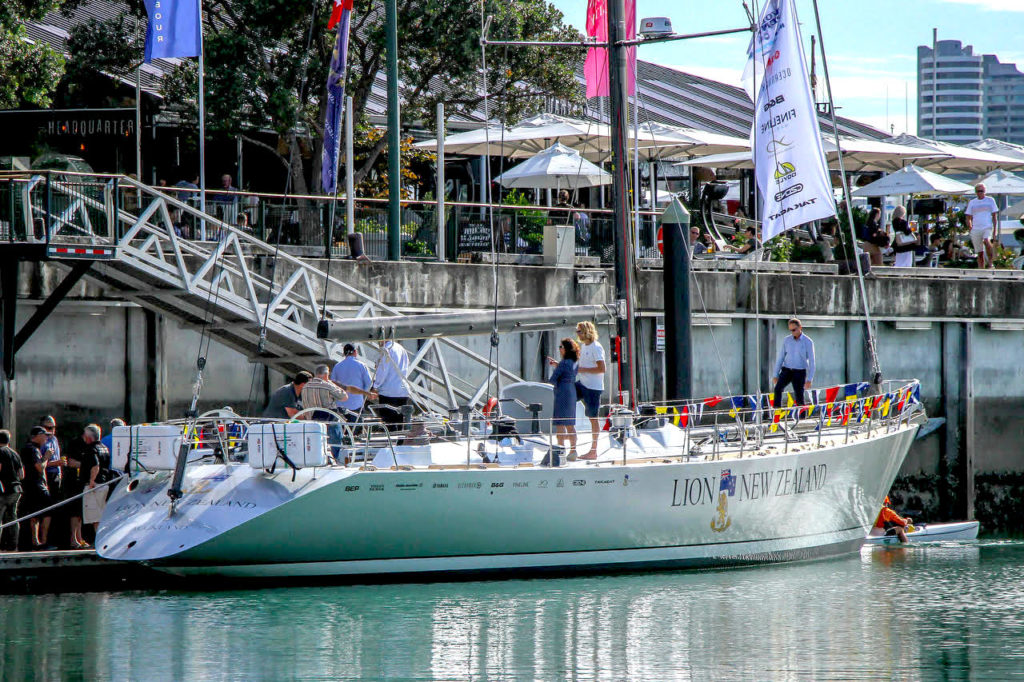 Lion New Zealand launches in Auckland Harbour after 18 month refit, this Ron Holland Design yacht has a legacy of racing success and is an educational opportunity for many New Zealander's with the programs run by New Zealand Sailing Trust, photo credit Richard Gladwell