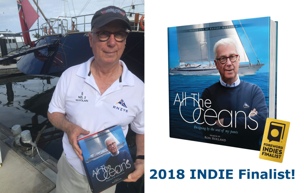 Ron Hollad's memoir All THe Oceans, is a 2018 INDIES AWARD Finalist, Foreword Reviews supports independent publishers and authors