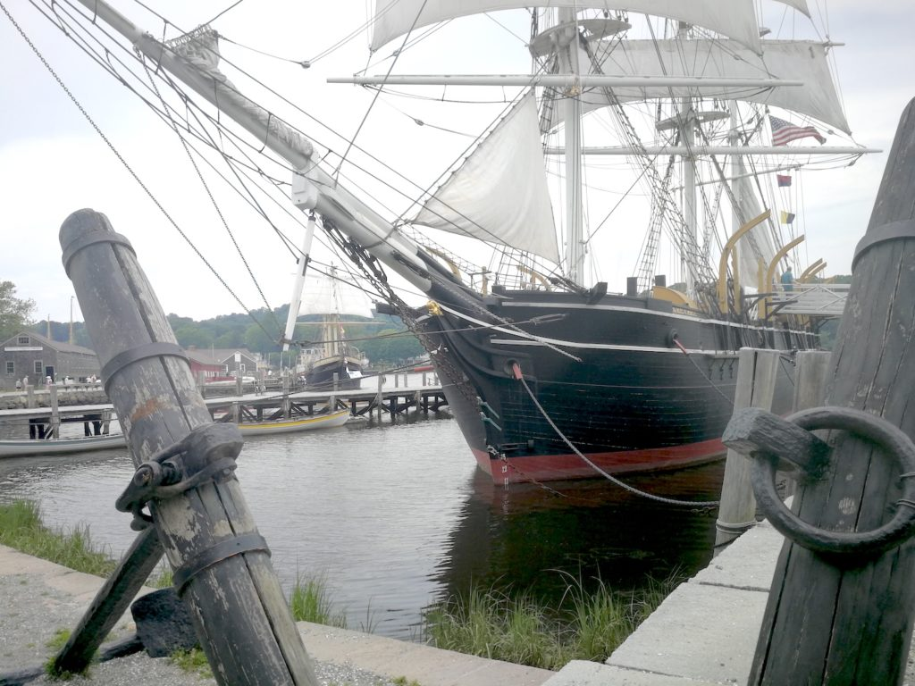 Square Rigger at Mystic Seaport CT USA, photo by Ron Holland