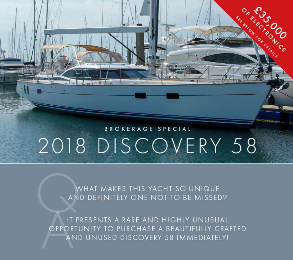 Discovery Yachts Group promotion for Ron Holland Design D58 yacht