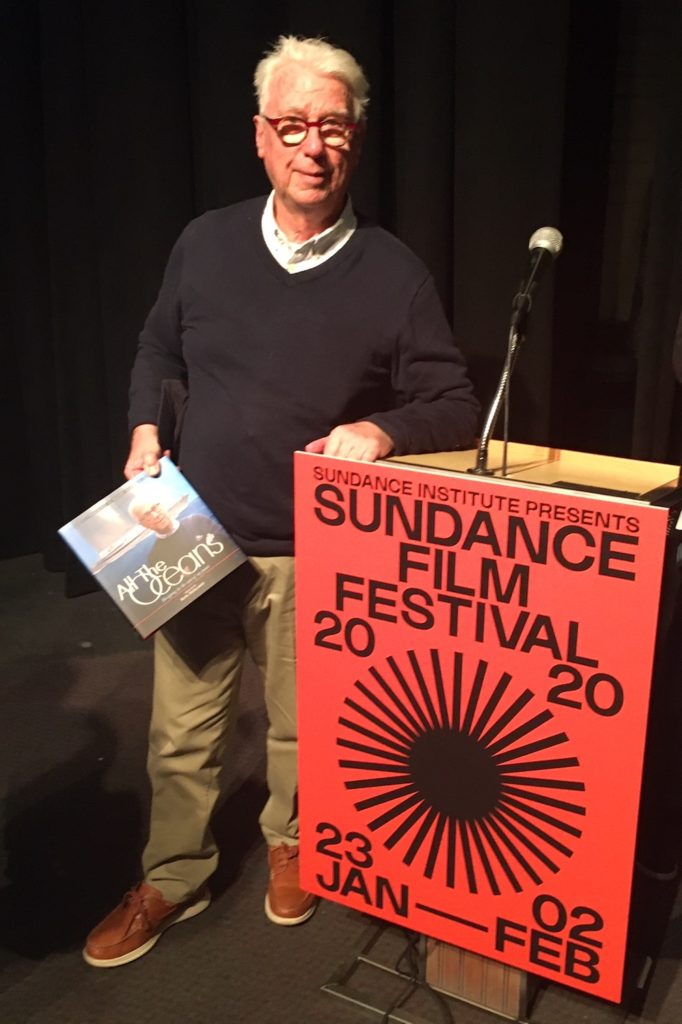 Ron Holland at Sundance Film Festival with his book All The Oceans