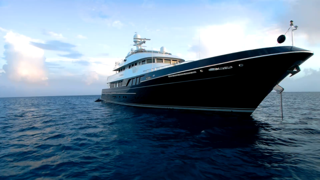 """Ocean Voyager motor yacht """"Dorothea III"""" designed by Ron Holland built by Cheoy Lee"""