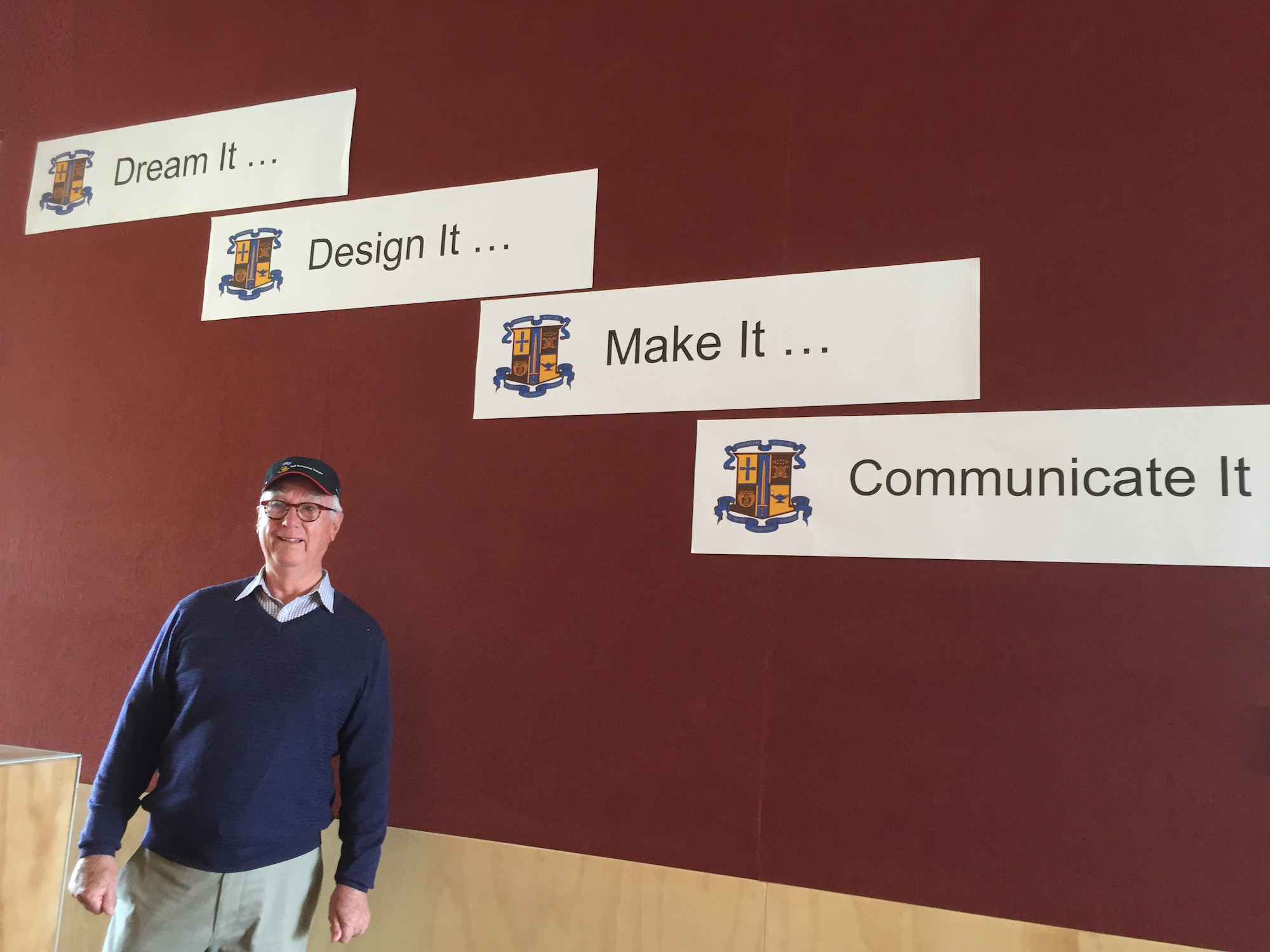 Ron Holland at St Paul's College in Auckland New Zealand