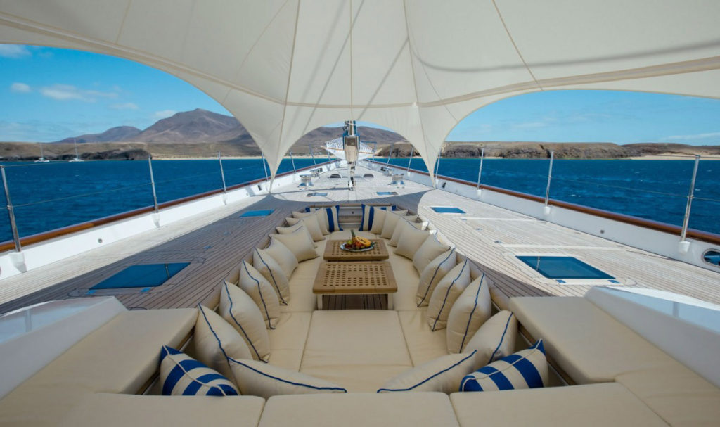 """Sailing Yacht """"Ethereal"""" with foredeck tent"""